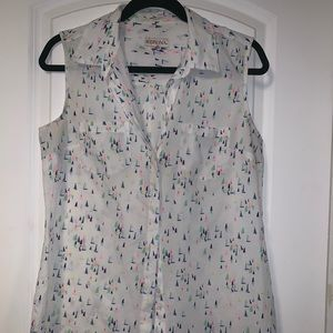 Sleeveless summer sail shirt- Medium